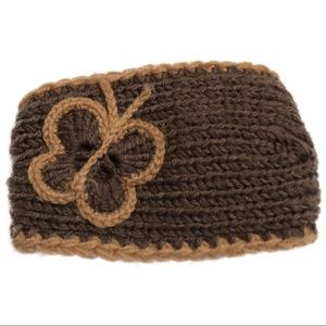 Accessories - NWOT Crochet Knit Butterfly Headband